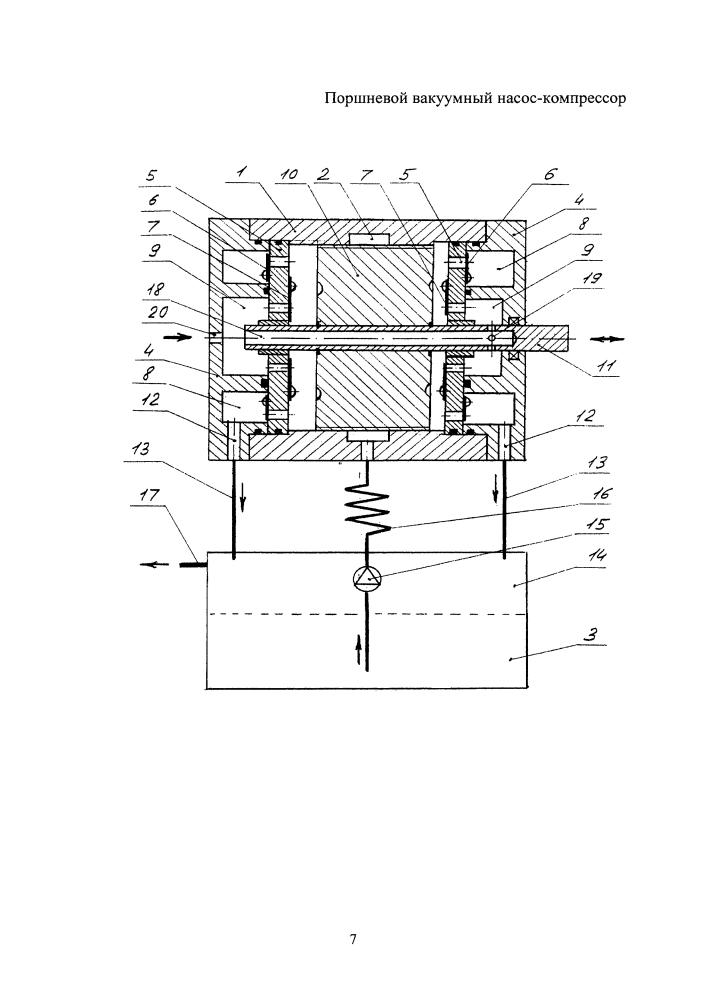 Поршневой вакуумный насос-компрессор