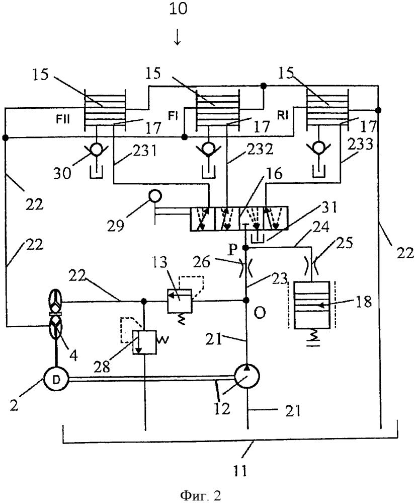 Аккумулирующая конструкция для переключения передачи и машина, в которой используется такая конструкция