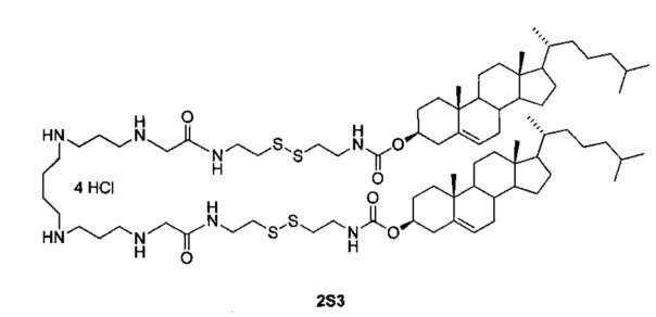 Дисульфидный поликатионный амфифил, композиция на его основе с нейтральным фосфолипидом и способ ее получения