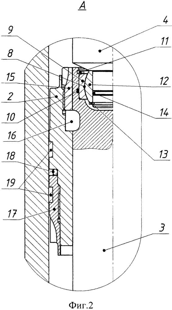 Гидроцилиндр двустороннего действия с двусторонним штоком