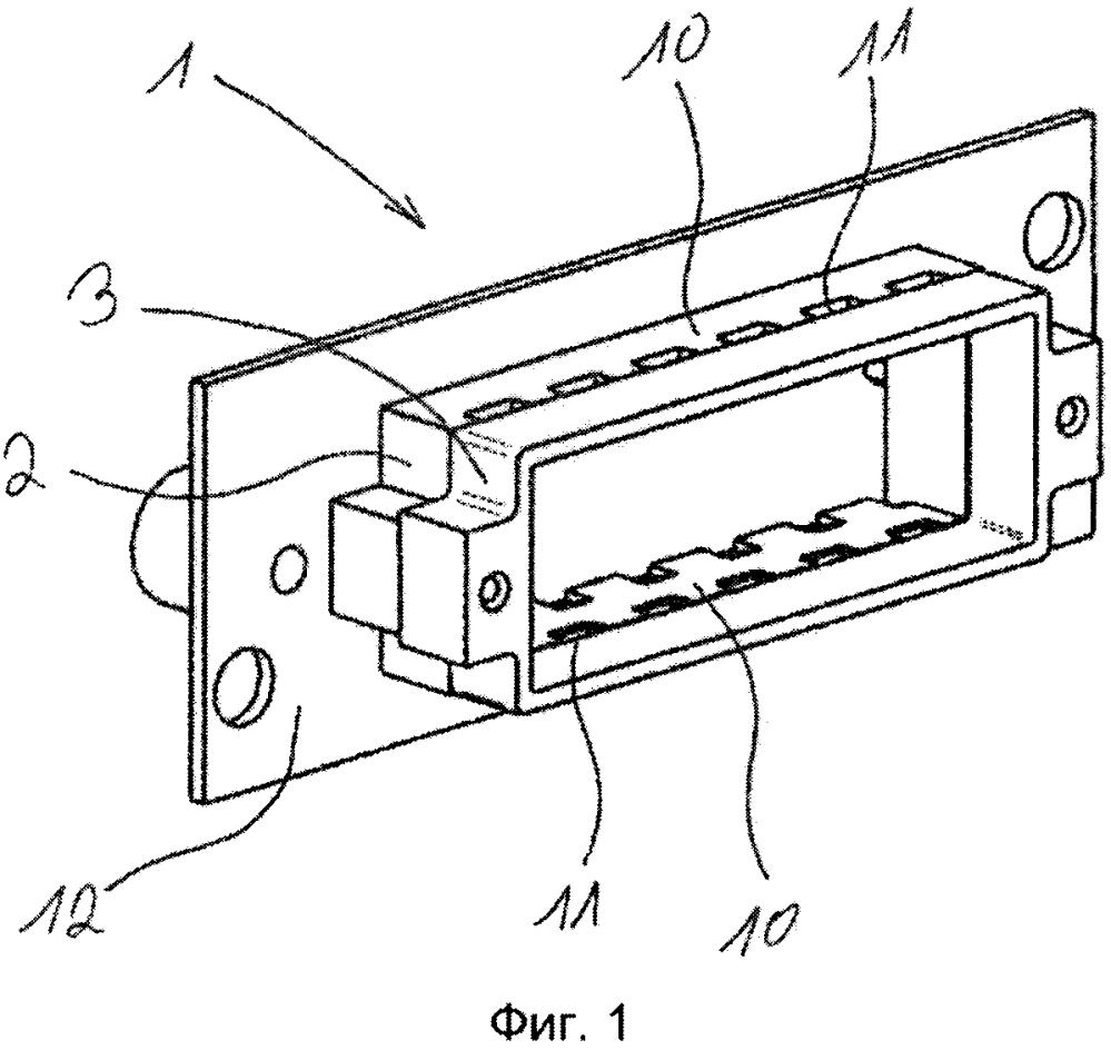 Удерживающая рама для удержания модулей штекерного соединителя