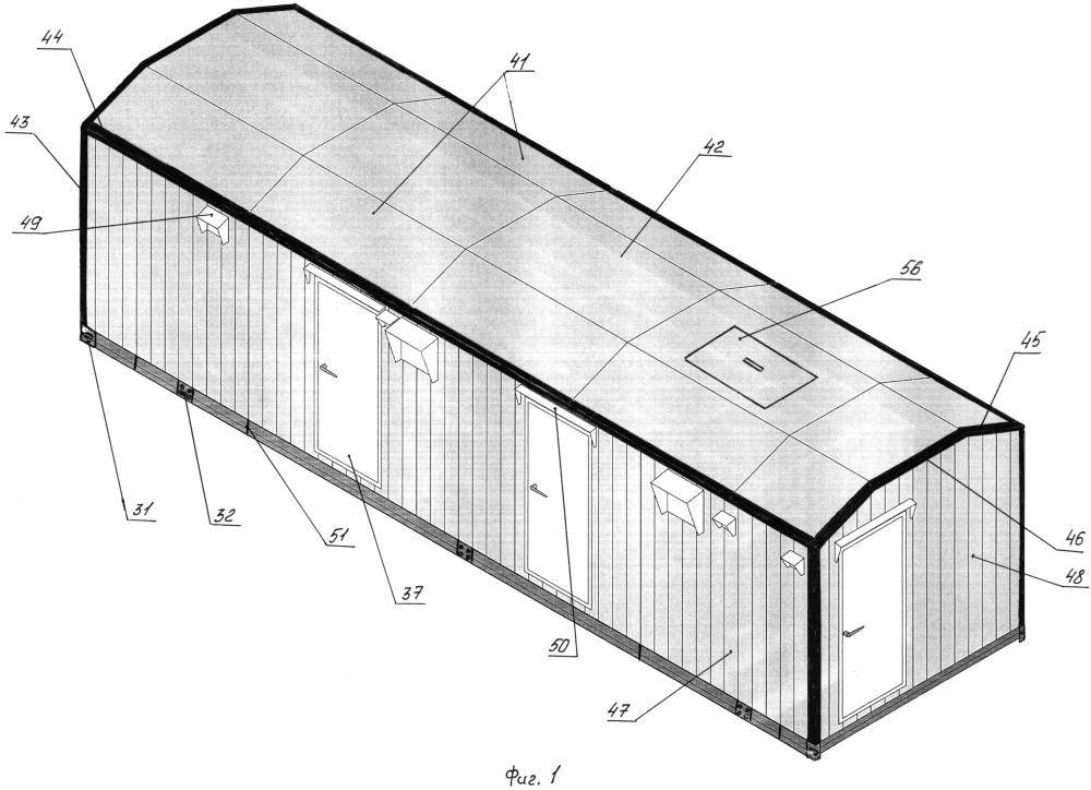 Блок-контейнер для технологического оборудования
