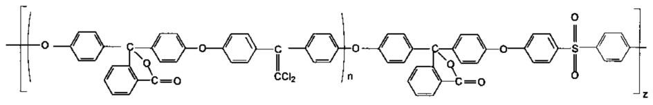 Блок-сополиэфирсульфоны с дихлорэтиленовыми группами в основной цепи