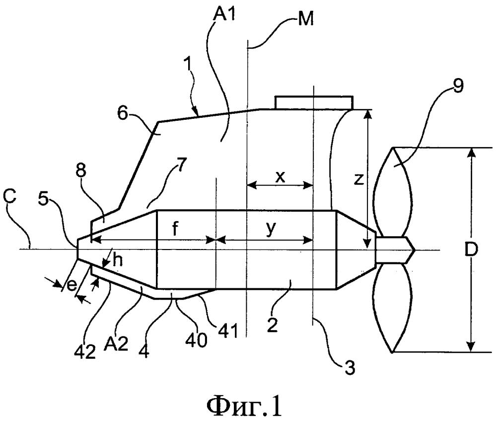 Способ и устройство для уменьшения азимутального крутящего момента, действующего на движительный гондольный узел или азимутальное подруливающее устройство