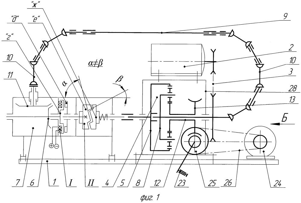 Стенд для испытаний конического редуктора по схеме замкнутого контура