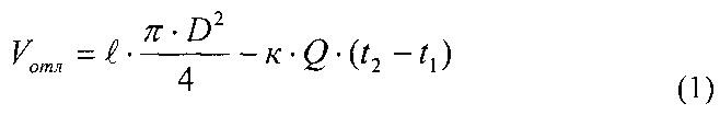 Способ определения объема отложений в колонне лифтовых труб скважины