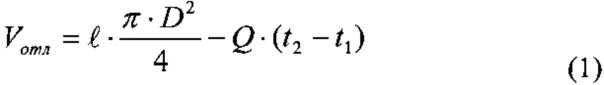 Способ определения объема отложений в колонне подъемных труб скважины