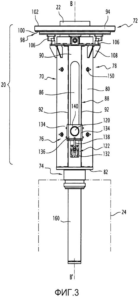 Устройство для фиксации соединительной головки на отлитом в форму электроде, соответствующее устройство и способ