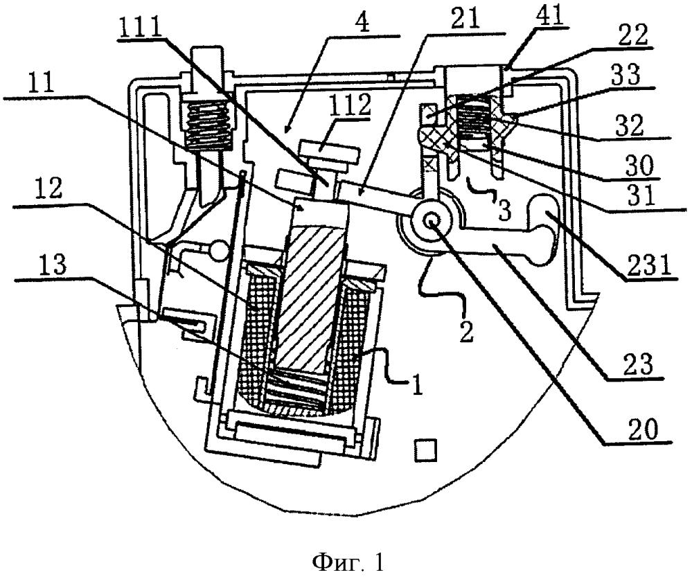 Приводной механизм модуля защиты от утечки тока