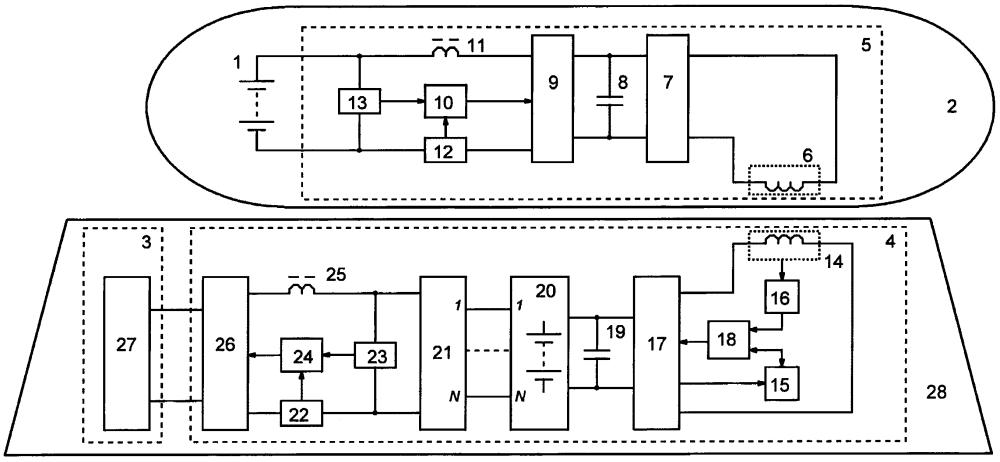 Устройство для зарядки аккумуляторной батареи автономного необитаемого подводного объекта