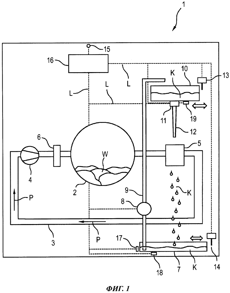 Прибор для ухода за бельем, содержащий съемный резервуар для жидкости