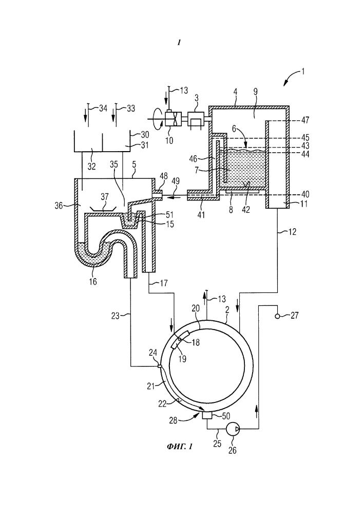 Водопотребляющий бытовой прибор с генератором газа для обработки и подводящим узлом
