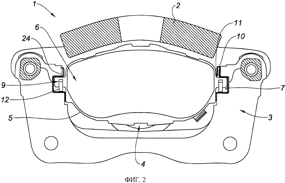 Направляющая для тормозной колодки дискового тормоза и дисковый тормоз, снабженный такой направляющей