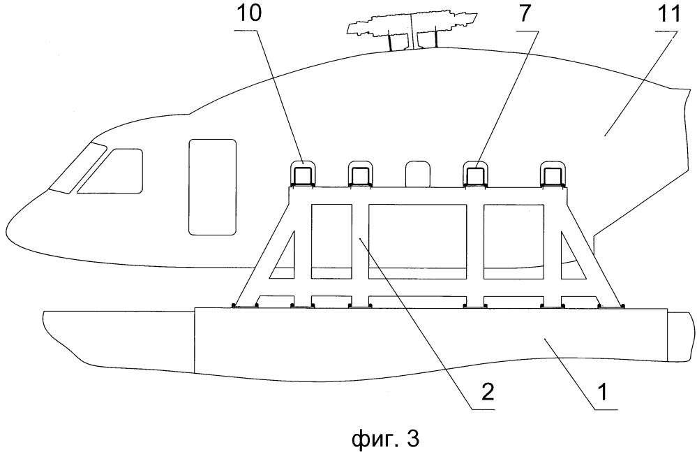Стенд для проведения наземных испытаний вертолета
