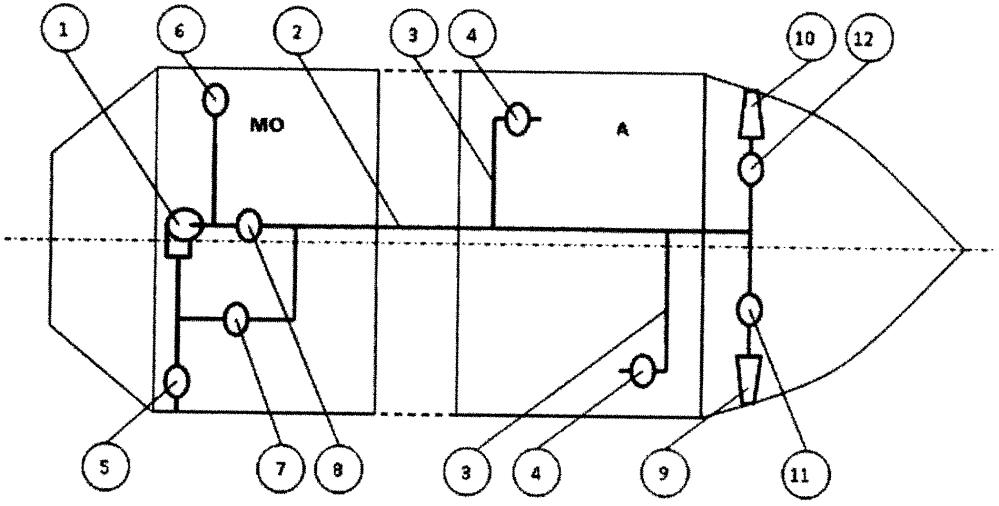 Водоотливная система судна