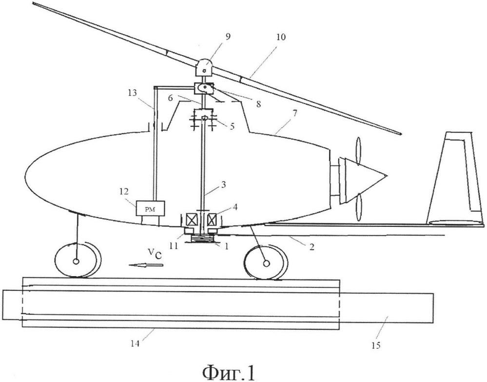 Устройство для предварительной раскрутки ротора беспилотного гироплана