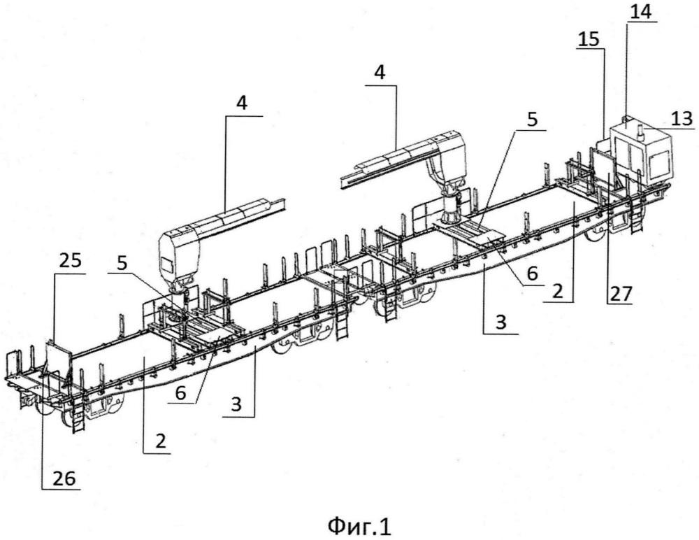 Мобильный грузоподъемный комплекс для погрузки, транспортировки и разгрузки железнодорожных рельсов и способ его эксплуатации