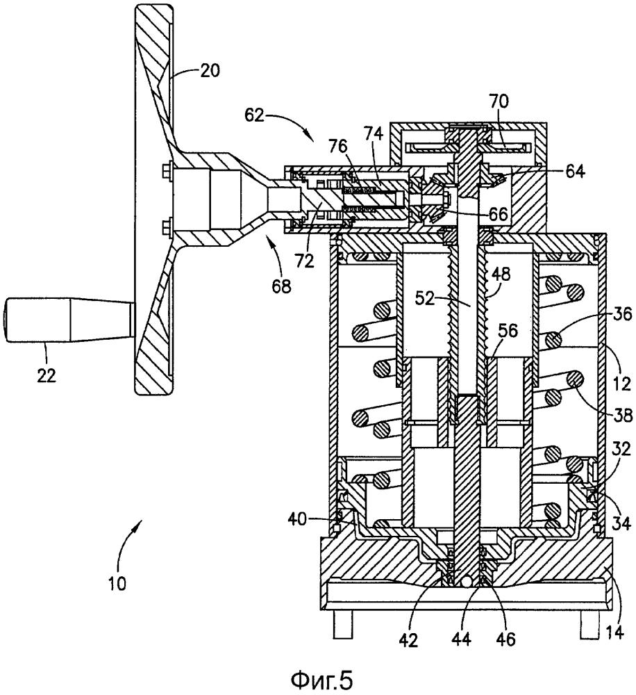 Пружинный стояночный тормоз с механизмом повторной установки тормоза с шариковым винтом