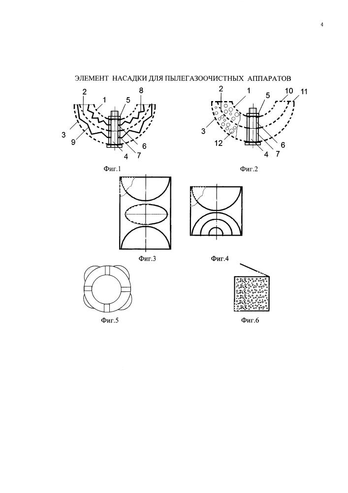 Элемент насадки для пылегазоочистных аппаратов