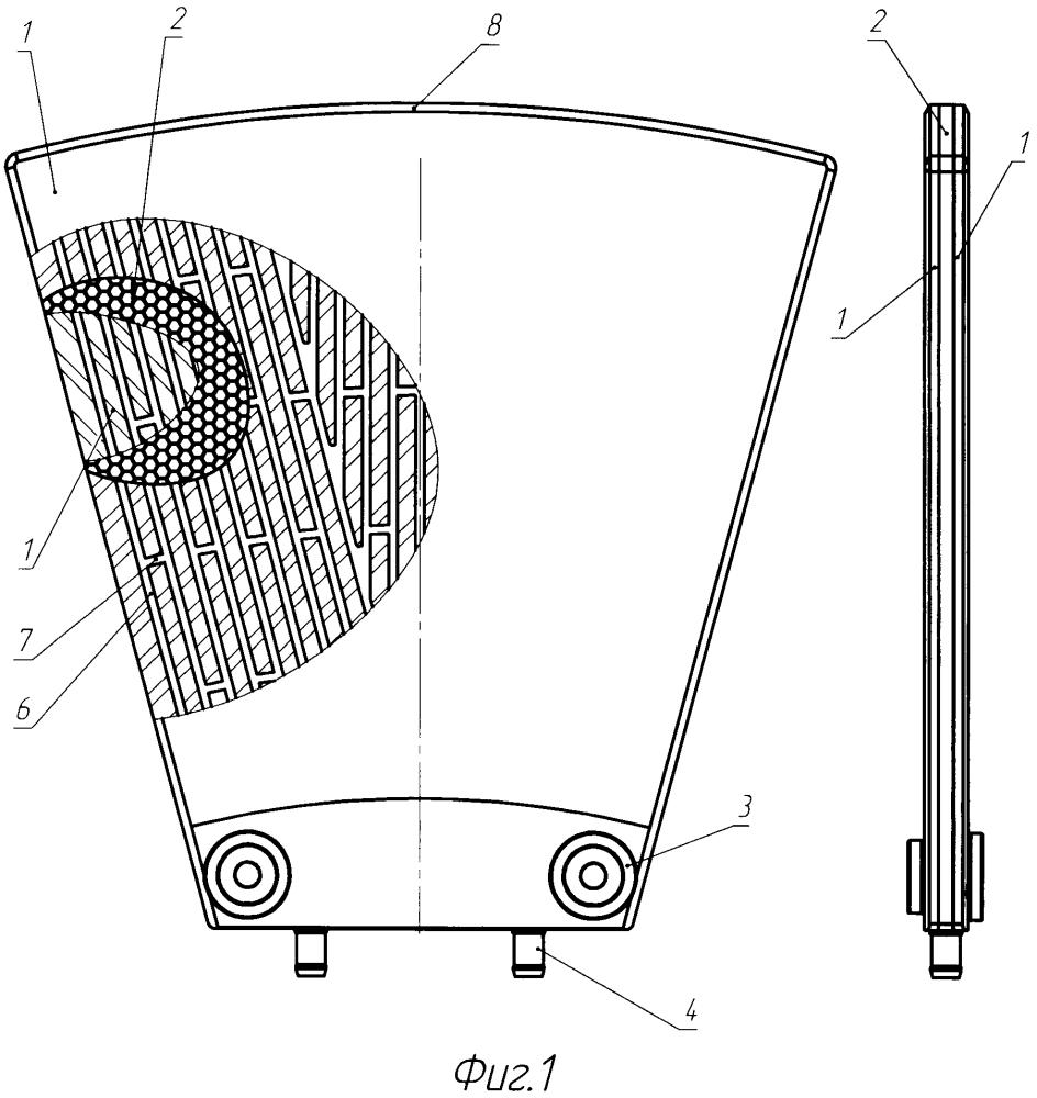 Секторный элемент дискового фильтра