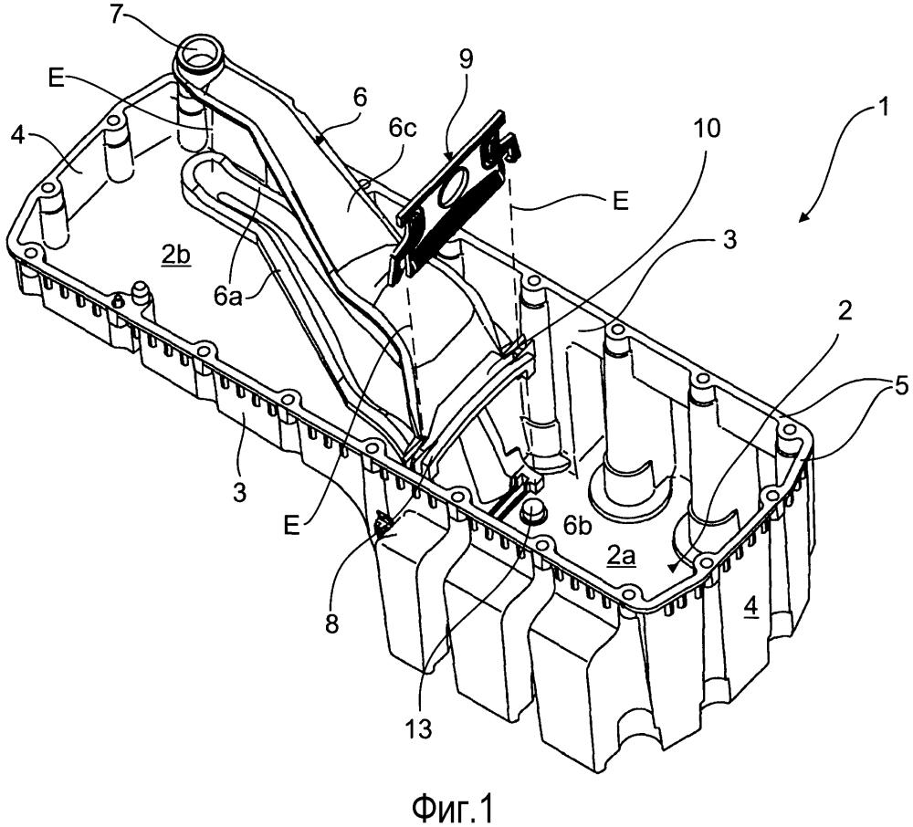 Масляная ванна для двигателей внутреннего сгорания, а также система сетчатого фильтра