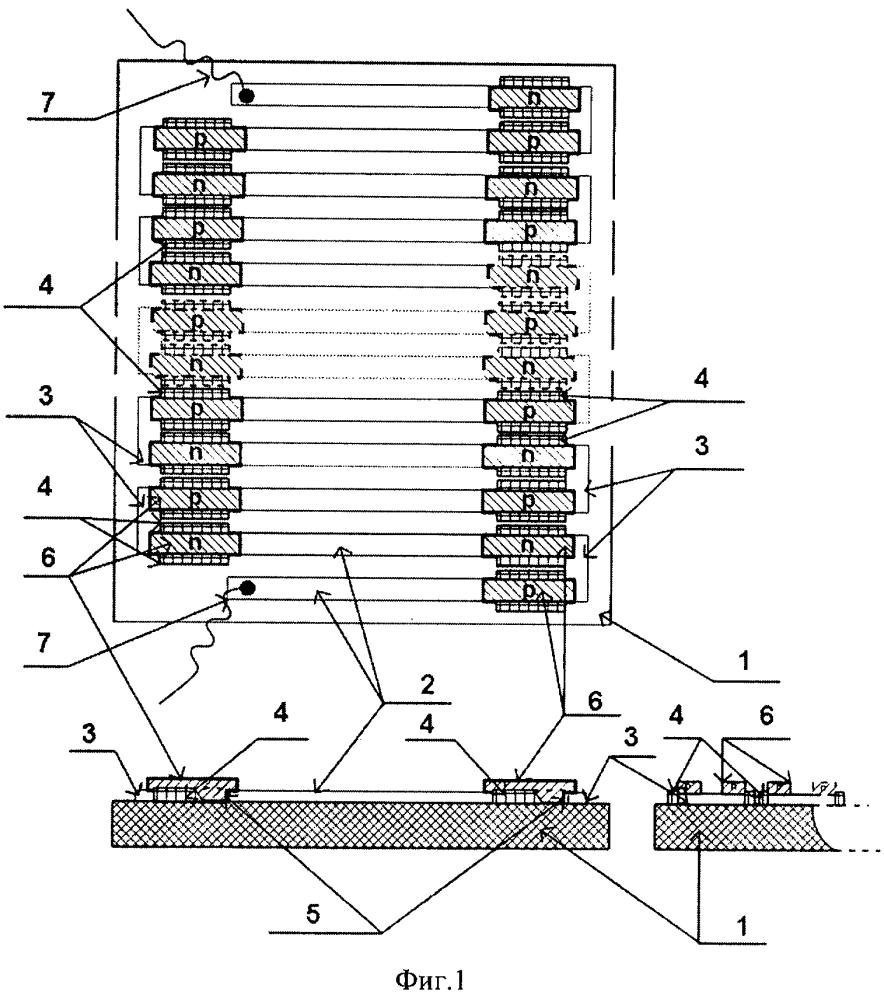 Пространственно ориентированный термоэлектрический модуль и способ его изготовления