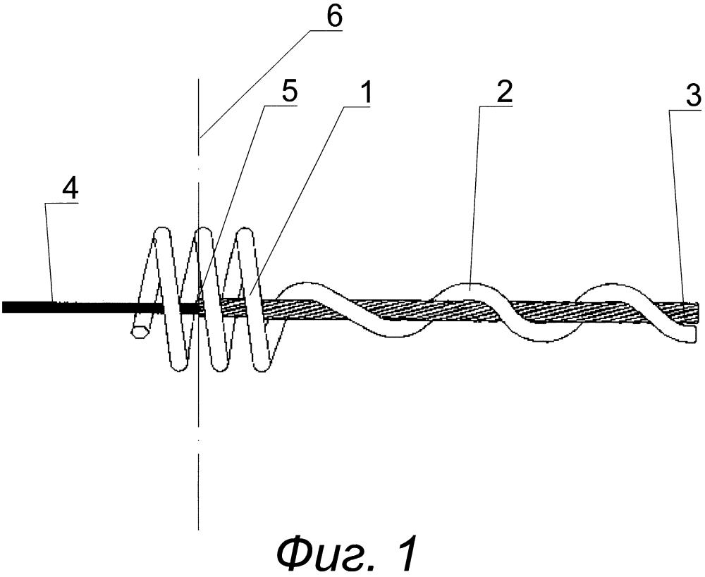 Экран для защиты от коронных разрядов на линейной спиральной арматуре самонесущих неметаллических оптических кабелей, подвешенных на опорах воздушных линий электропередачи