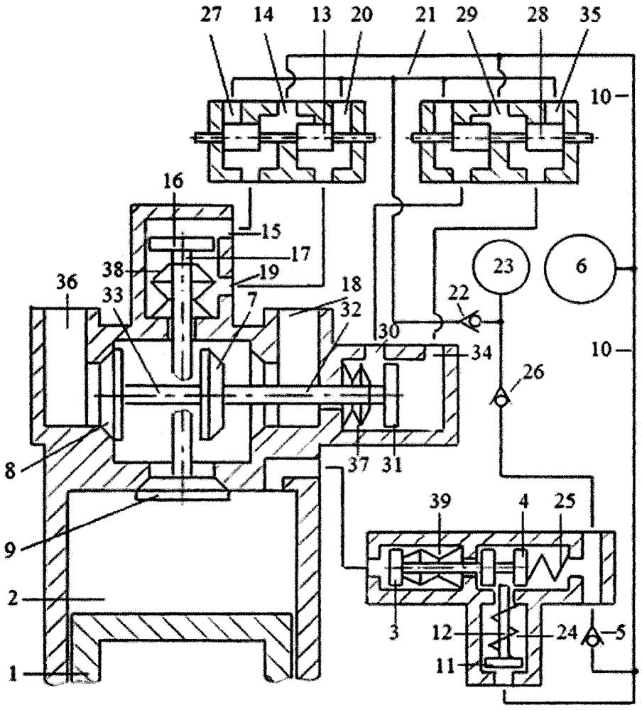 Способ дополнительного наполнения цилиндра двигателя внутреннего сгорания воздухом или топливной смесью перекрытием фаз газораспределения системой привода двухклапанного газораспределителя с зарядкой гидроаккумулятора системы привода жидкостью из компенсационного гидроаккумулятора