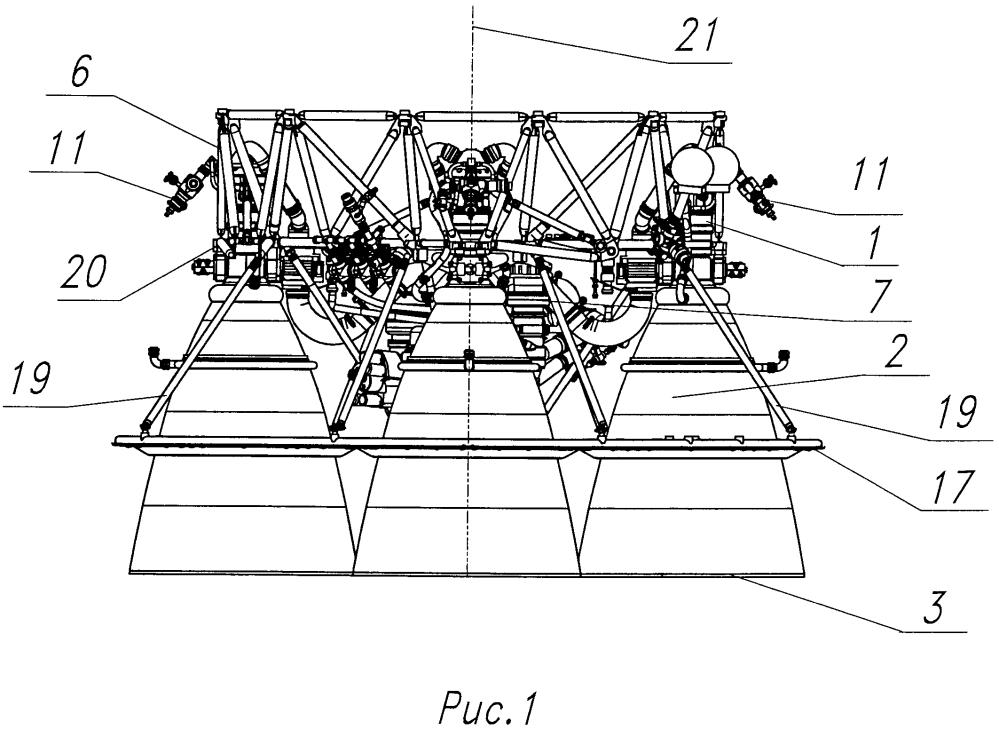 Многокамерный жидкостный ракетный двигатель