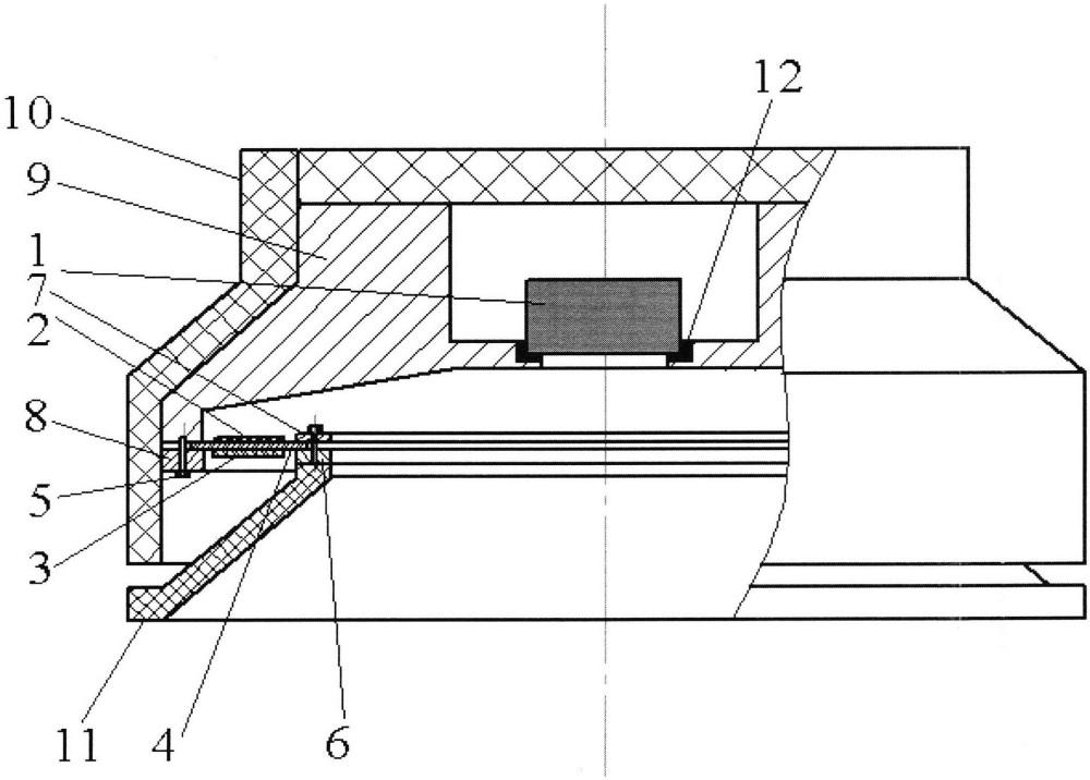 Комбинированный приемник для регистрации дыхательных звуков на поверхности грудной клетки