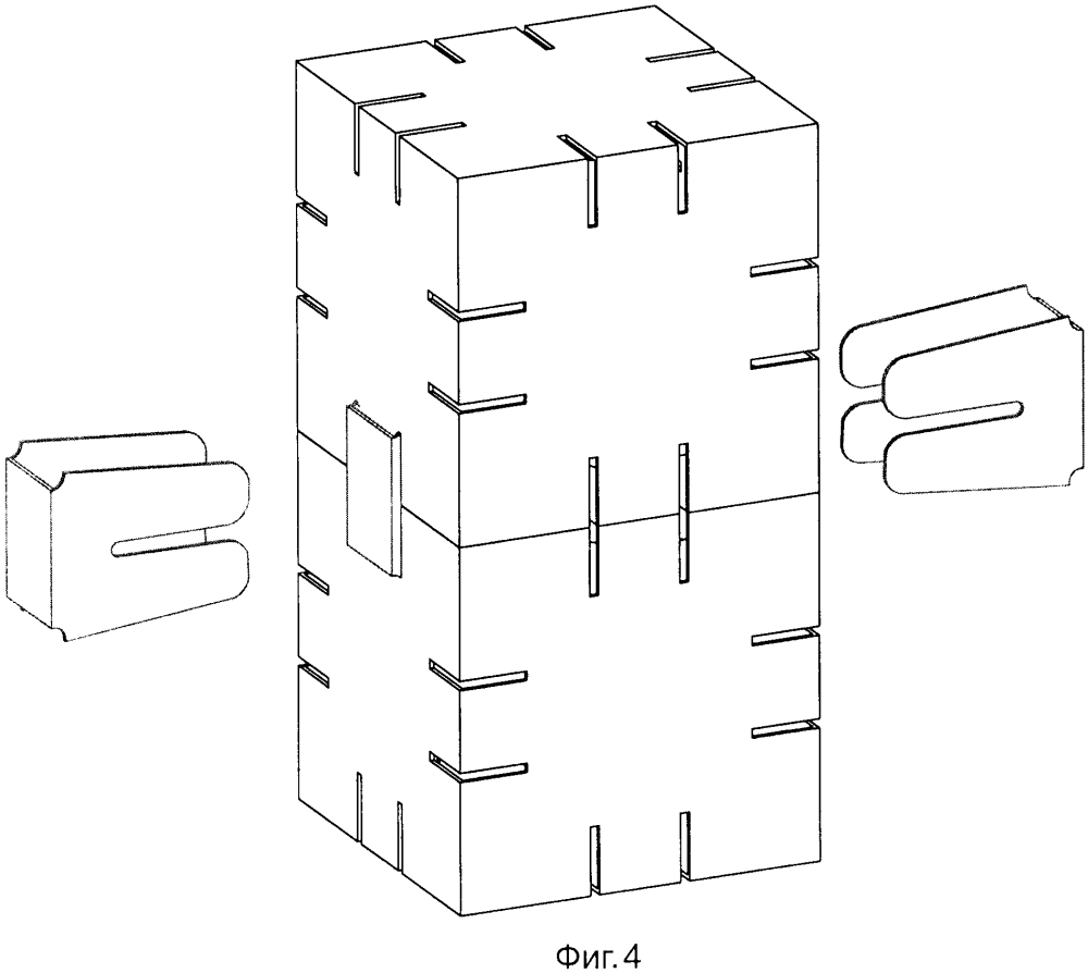 Объемный элемент и лист для его изготовления, соединитель этих элементов и лист для его изготовления, набор для конструирования йохокуб, содержащий упомянутые объемные элементы и соединители, а также его применение