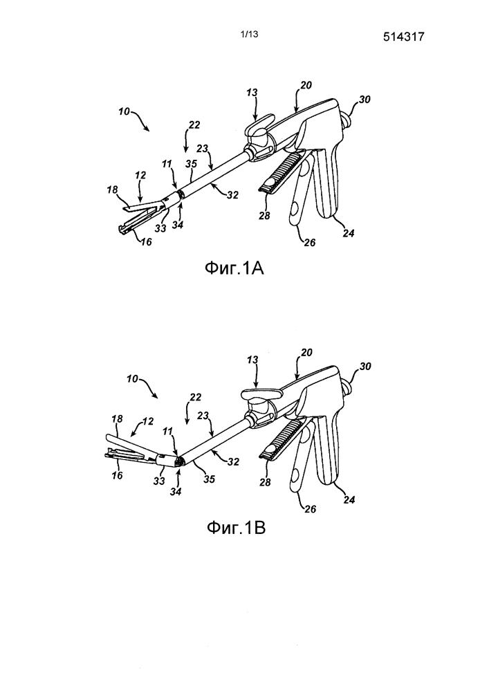 Хирургический инструмент с упрочняющим зажимом для скоб