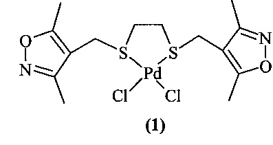 Хелатный цис-s,s-комплекс дихлорди-1,6-(3,5-диметилизоксазол-4-ил)-2,5-дитиагексан палладия(ii), проявляющий гепатопротекторную активность