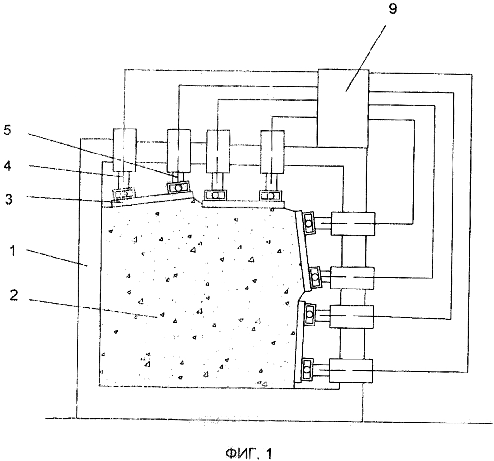 Стенд для физического моделирования геомеханических процессов