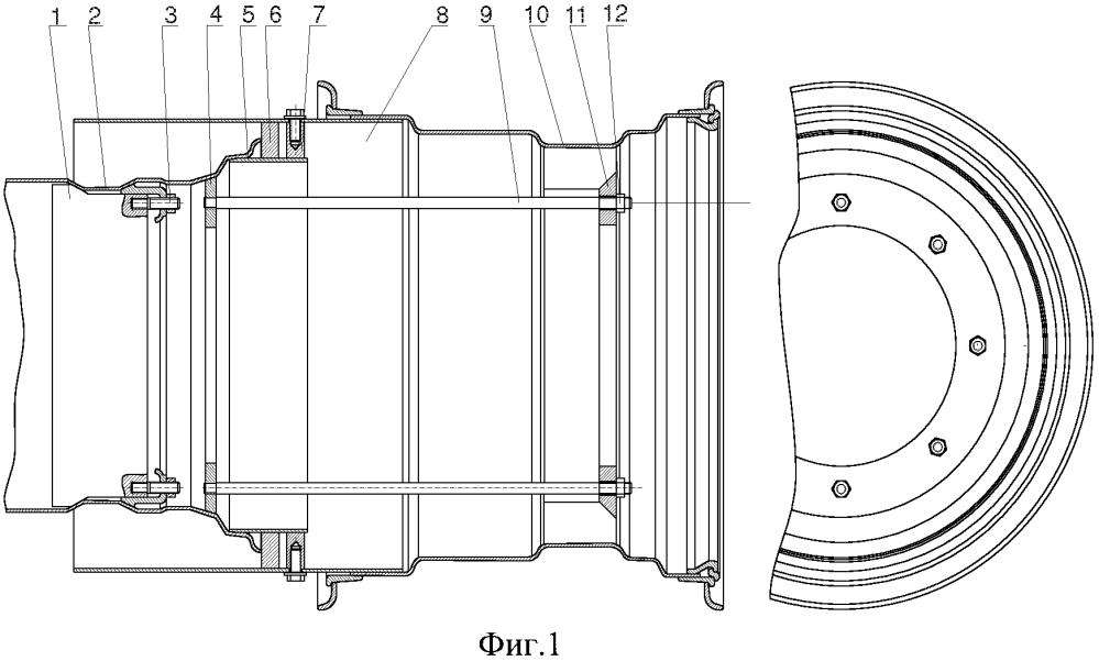 Устройство для измерения ширины колеи задних бездисковых колес трактора