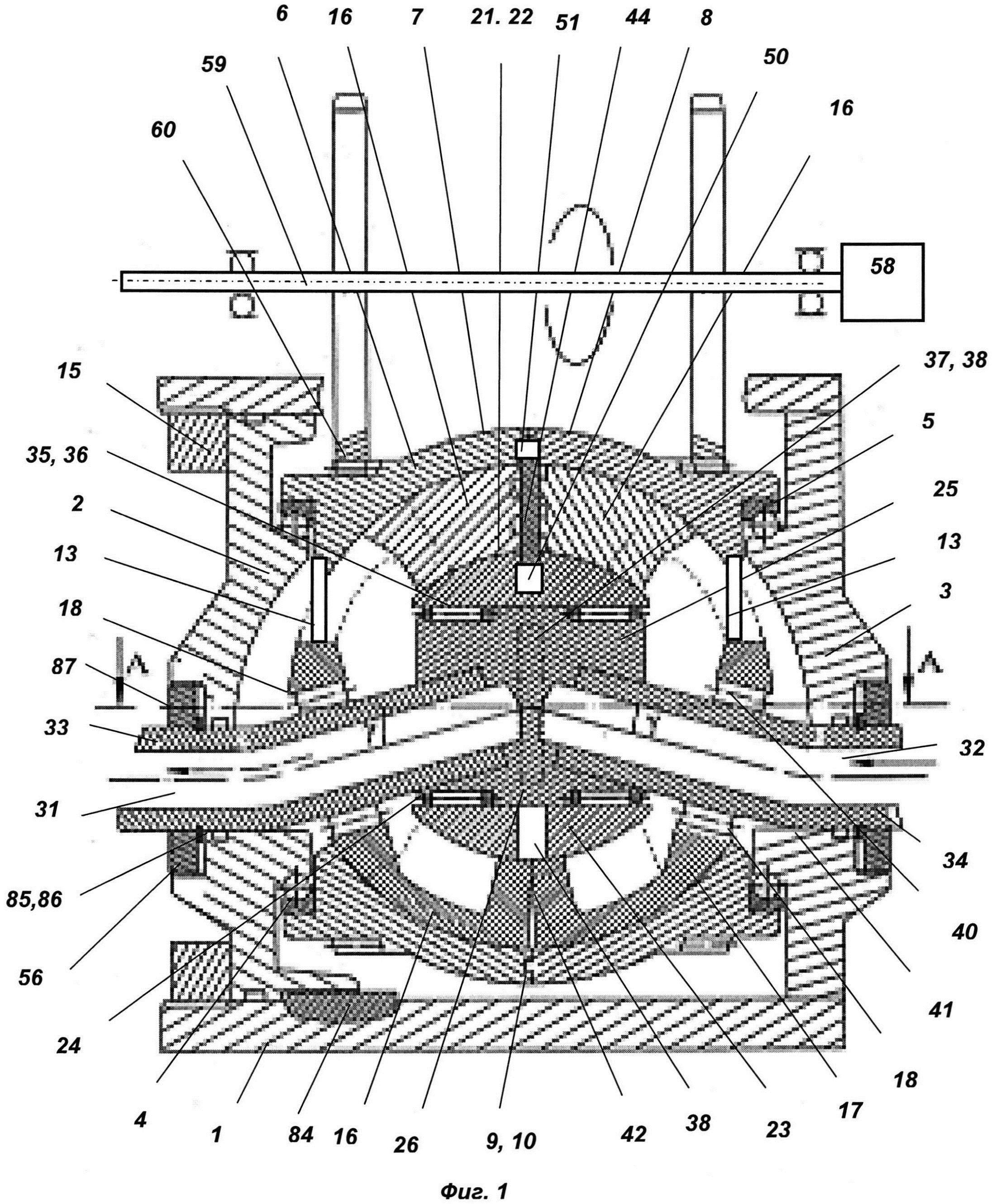 Объемная роторно-пластинчатая машина (два варианта)