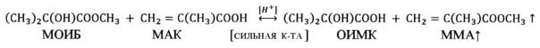 Способ утилизации кубовых остатков производства метилметакрилата