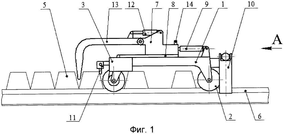Устройство для раскладки шпал по эпюре при сборке звеньев железнодорожного пути