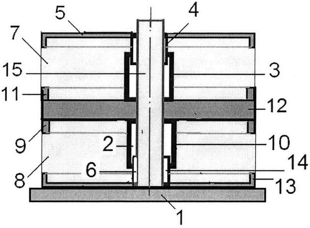 Демпфирующий симметричный шайбовый сетчатый пакет кочетова