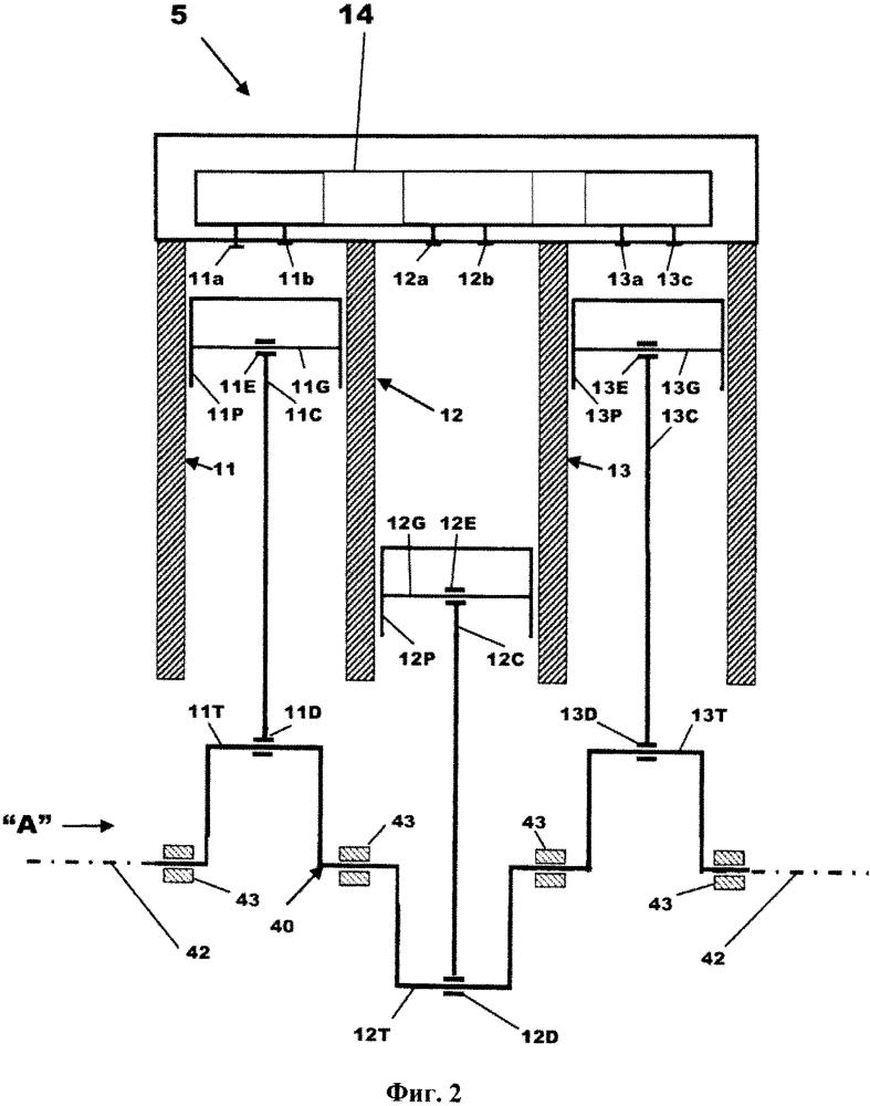 Трехцилиндровый двигатель с отключаемым цилиндром и способ его эксплуатации