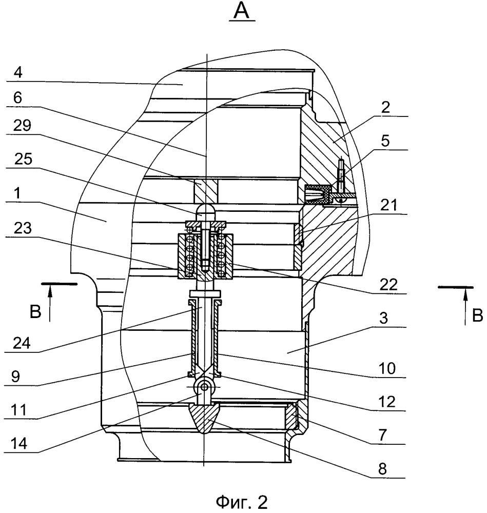Устройство для соединения и разъединения трубопроводов агрегата