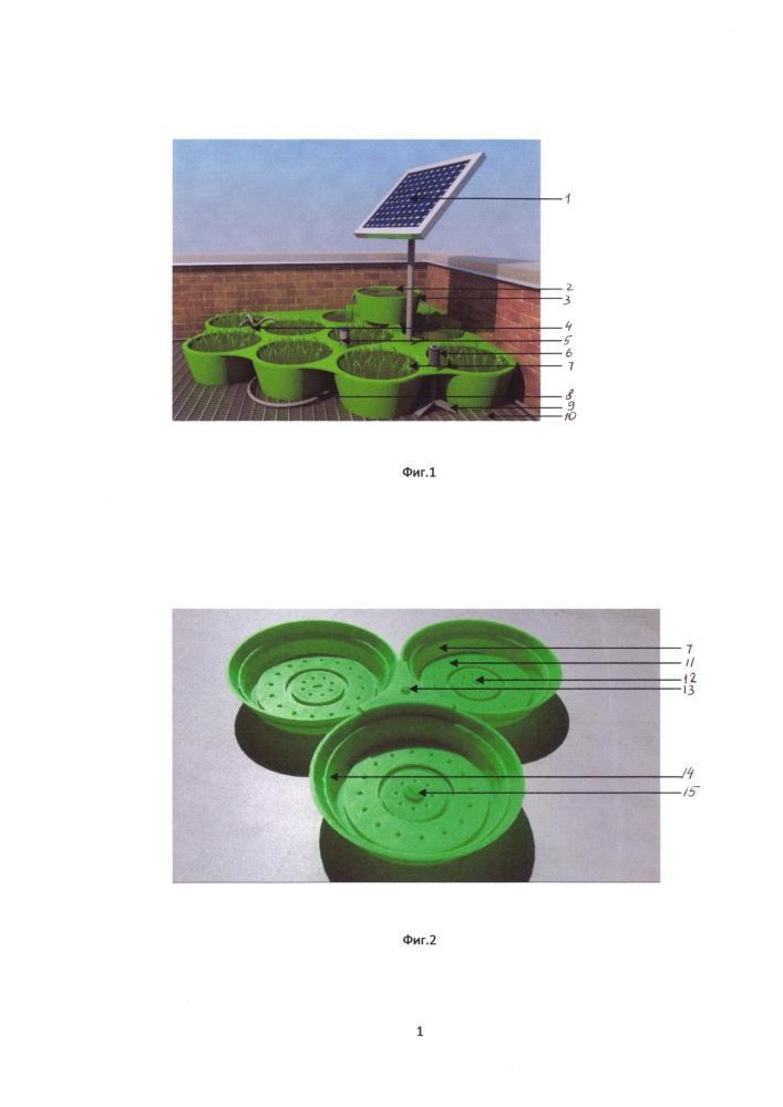 Модульная конструктивная система зеленой кровли