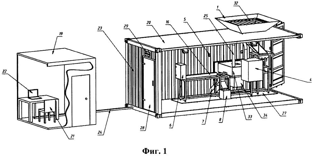 Установка для сухого обогащения кимберлитовой руды методом меченых нейтронов