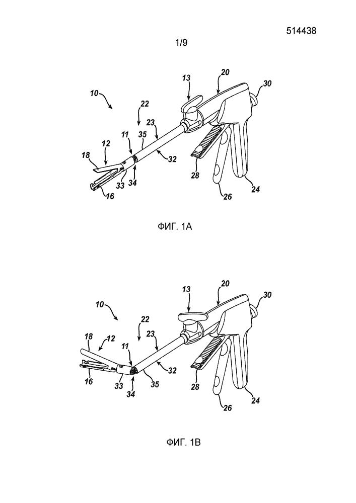 Хирургический сшивающий узел с гемостатическим приспособлением