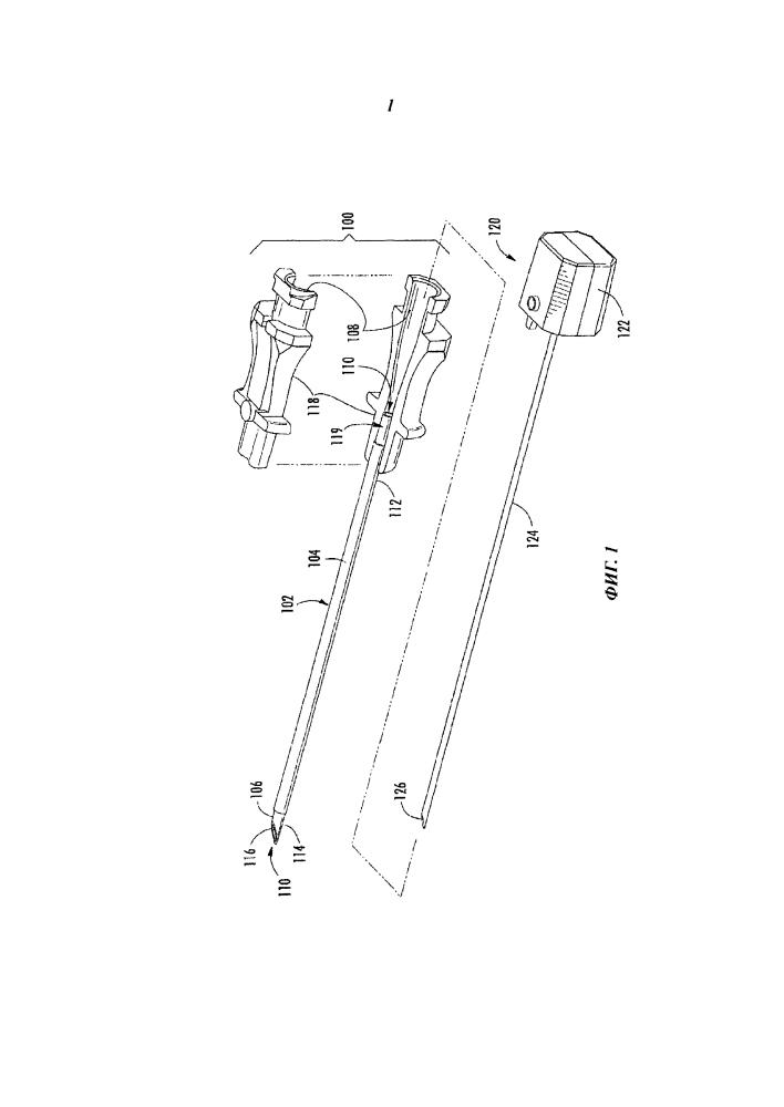 Электрохирургическое устройство со смещенным проводящим элементом
