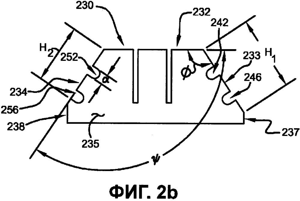 Протектор шины с захватом материала (варианты)