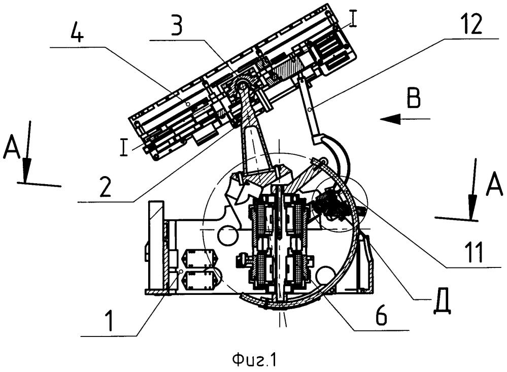 Антенное устройство с бикардановым подвесом