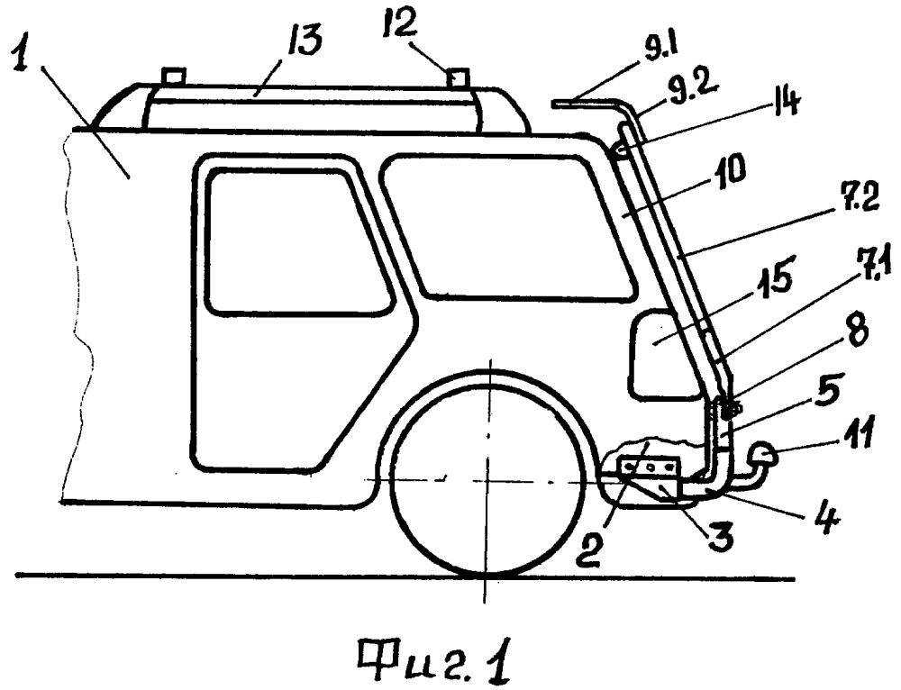 Способ и устройство защиты задка легкового автомобиля от загрязнений