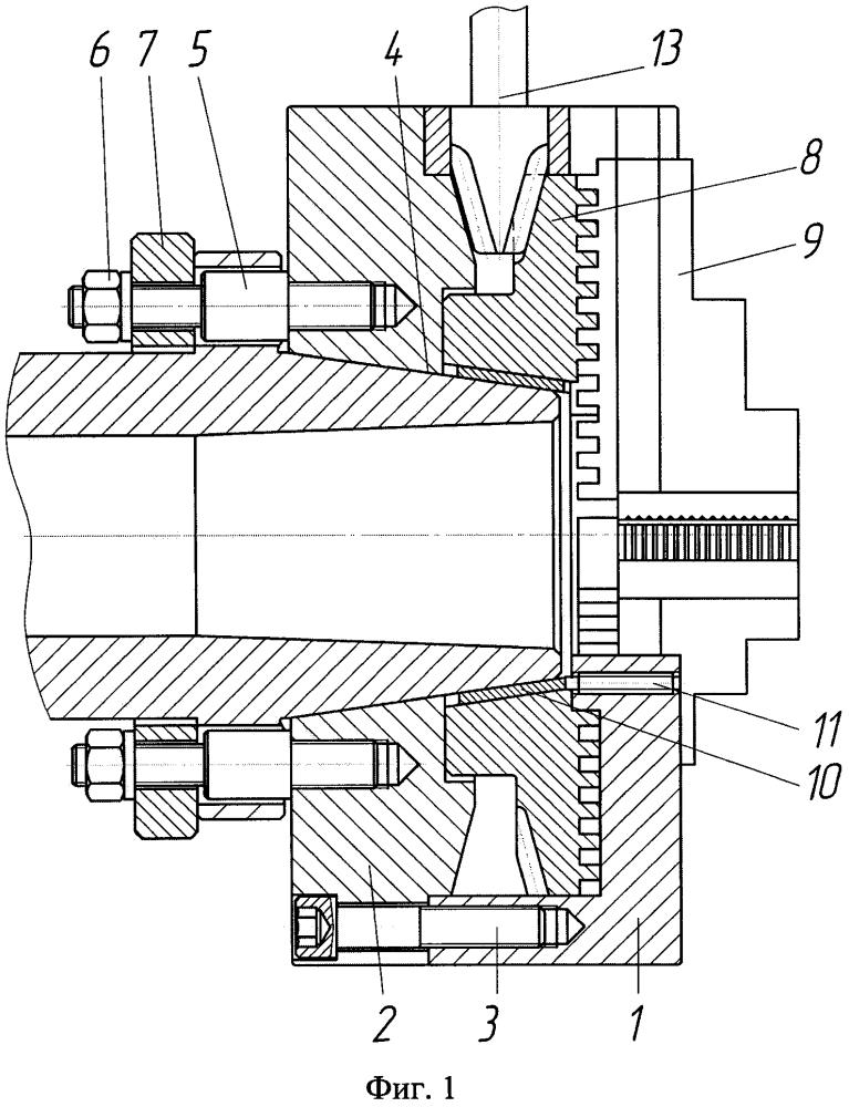 Устройство для закрепления цилиндрических заготовок при обработке на токарном станке