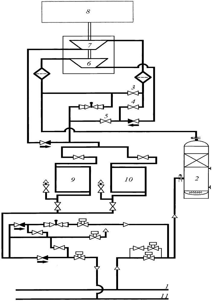 Устройство для компримирования природного газа